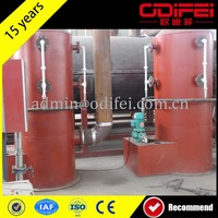 low price continuous waste tire oil refining machine with cap of 15-20t/d for sale