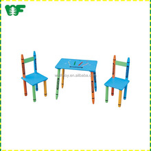Crayon cheap wood reading kids table and chairs