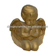 Decorative ceramic infant angel wings