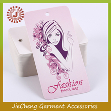 china Custom Paper Printed Garment Tag / size hole punch Hang tag for clothing