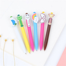 Cute Cartoon Kawaii Novelty Ballpoint Pens Lovely Cat Bird Ball Pen Korean Stationery