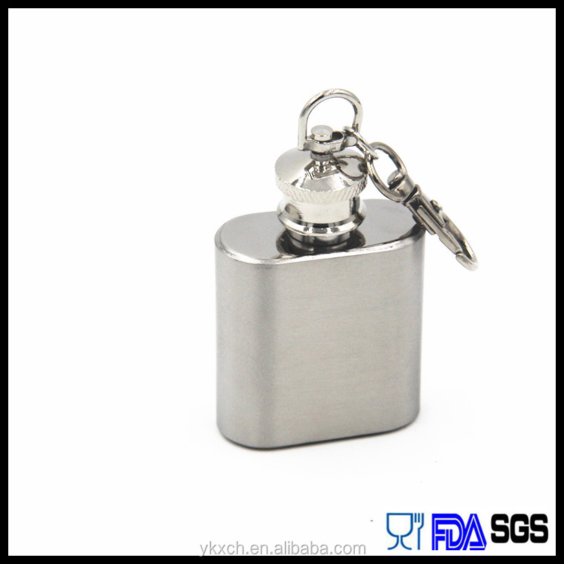 Save you 20% money ,the factory wholesale 1oz keychain hip flask