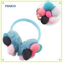 Colorful flowers warm ear muffs