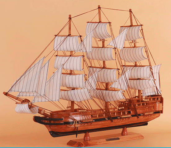 large sailboat model boat crafts Exquisite sailing ship arts