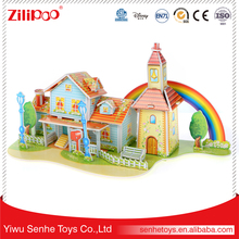 YWSH Fully Stocked Promotional,3D Rainbow House Puzzle Card, Mind Puzzle Games Riddles Brain Teasers Children Puzzle