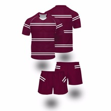 Striped germany rugby league jerseys set