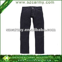 Latest design Men's 100%cotton black washed denim jeans