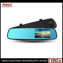 2016 New double camera hd dvr 4.3 Inch Dual Lens Video Recorder E-DVR001 Dash Cam Rearview Mirror Car Camera 1080P HD Car DVR