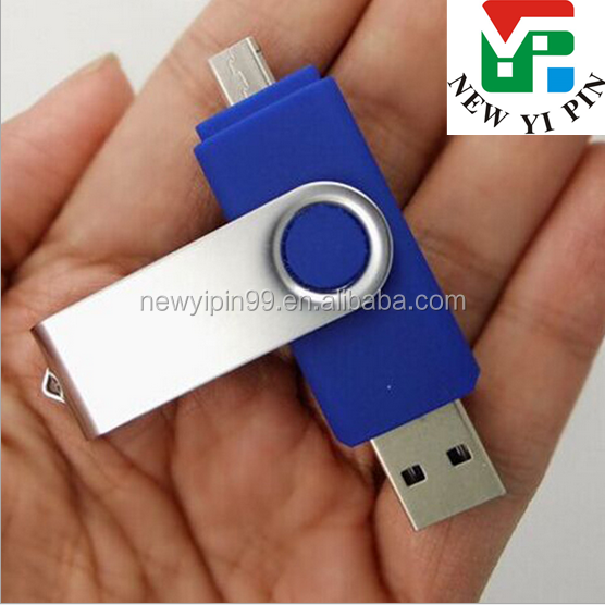 Alibaba wholesale swivel otg high speed USB 3.0 flash drive, android mobile phones and cumputer dual usb flash drive