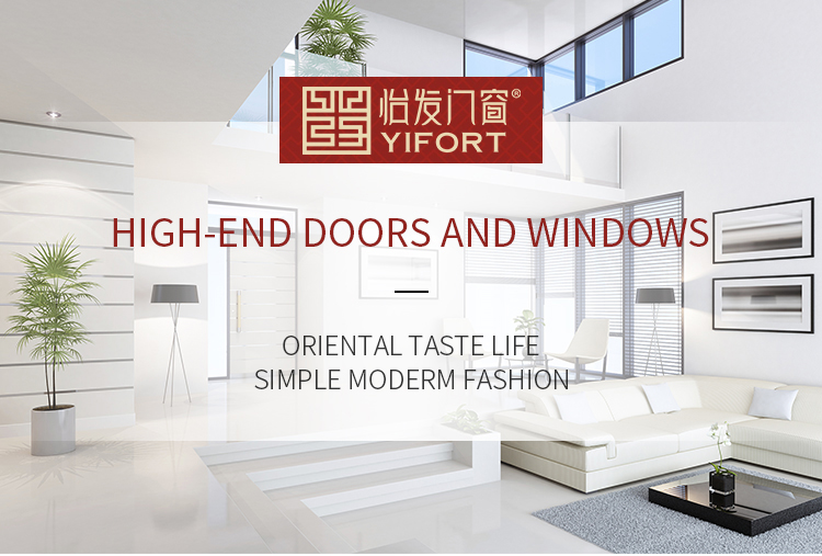 white modern fashion aluminium double swing glass door