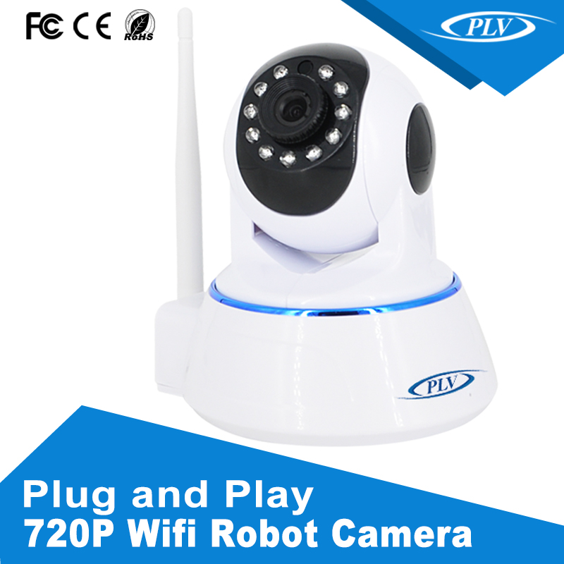 built-in speakers and microphones SD card 32GB storage 720P cctv robot baby camera cam wifi