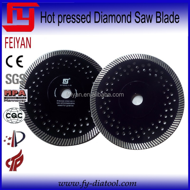 Hot pressed Diamond Turbo Granite Saw Blade