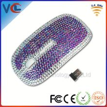 Rhinestone mouse with pen drive with gracious design for promotional gifts