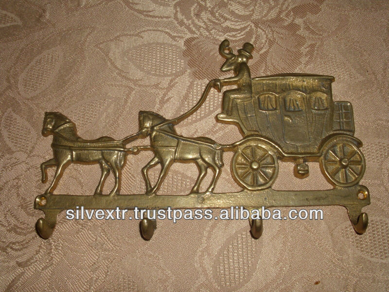 Barock Style Keys Hanger Antique horse design