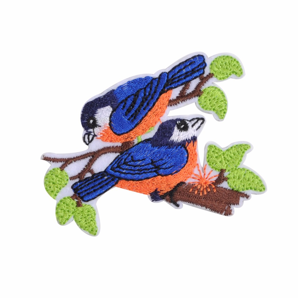 high quality patches custom bird embroidery designs no minimum