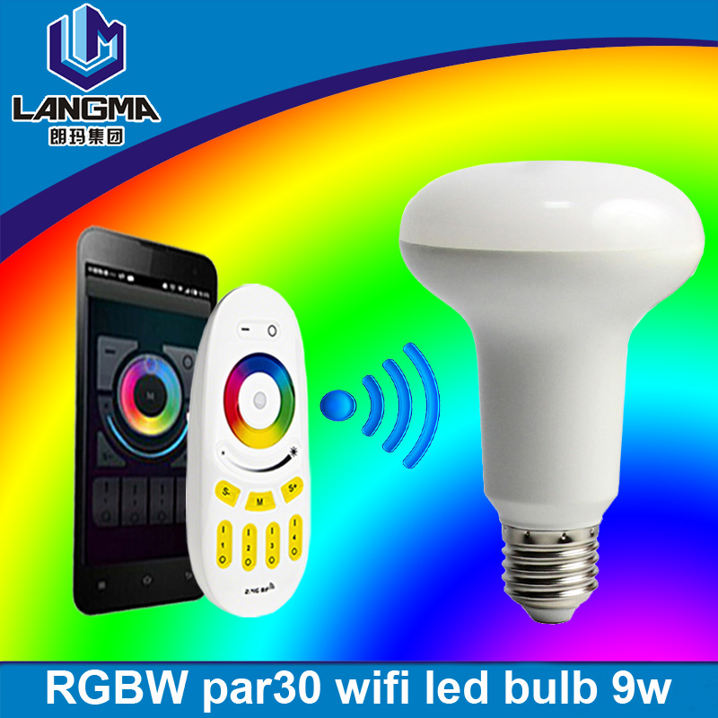 Langma High quality Plastic LED Bulb energy save led rgbw wifi rgb led light bulbs smart light bulb