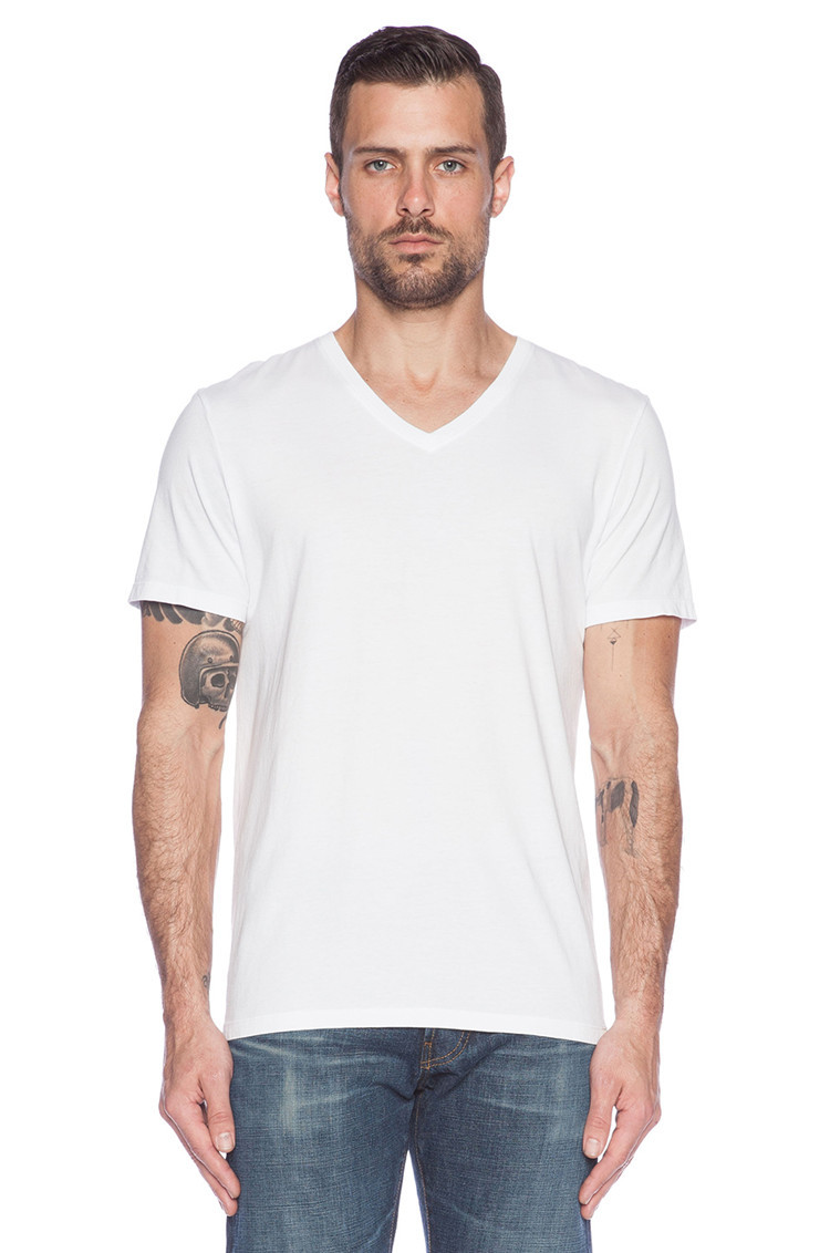 Dri Fit Cotton V Neck Blank T Shirts For Men Plain T