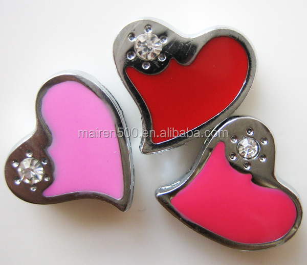 cheap wedding decorations romantic metal craft 8mm slide charms