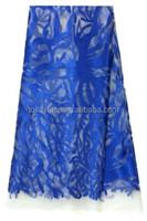 2015 royal blue tull fabric for wedding dress