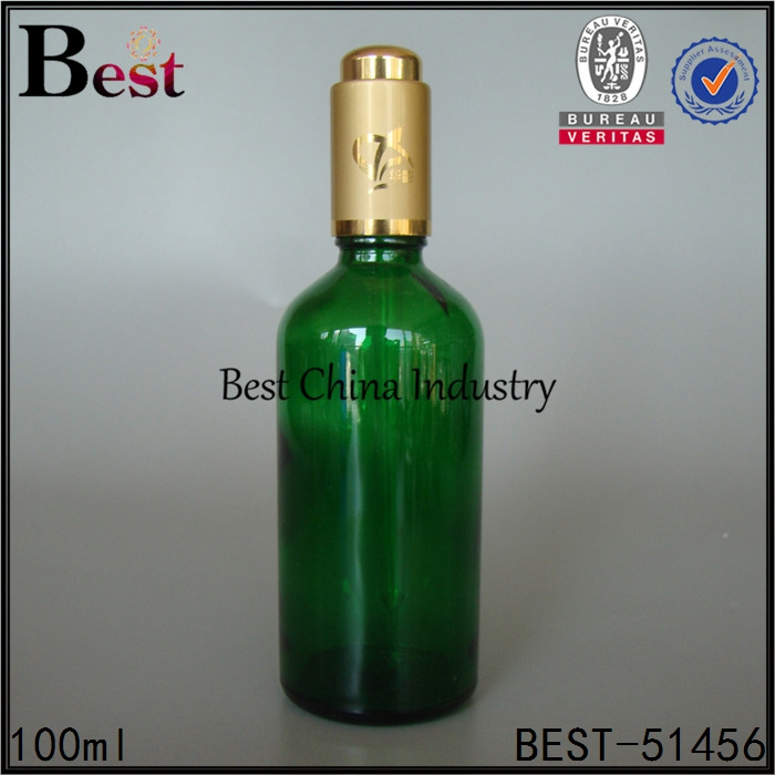factory price essential oil bottle oud oil glass bottle with pump wholesale 100ml