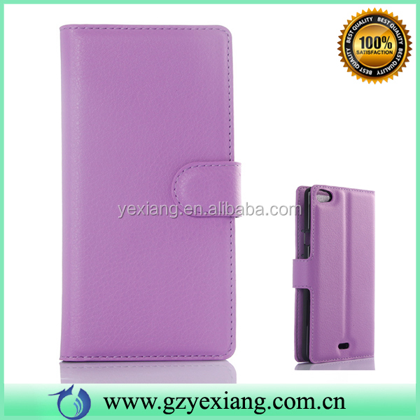 Fashion Flip Leather Wallet Stand Flip Cover For Wiko Robby Case Cover