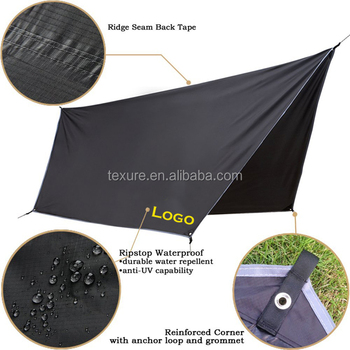 Lightweight Waterproof Sunshade Tarp Cover Tent Shelter Rip-stop Hammock Rain Fly