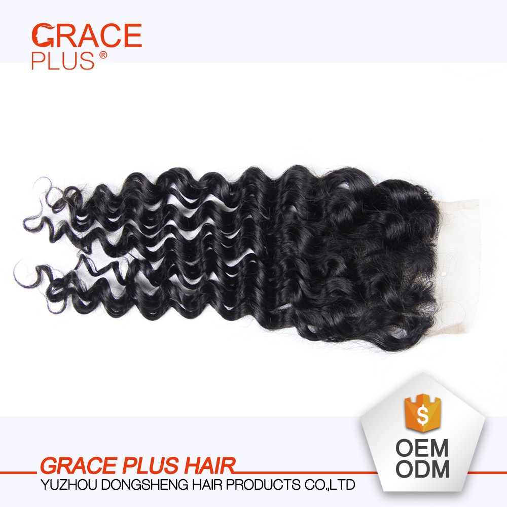 Factory Direct Sale Hair Closure in Stock 4*4 Three Part Yaki Lace Closure
