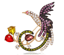 Factory wholesale Phoenix brooches for women fire bird safety pin brooch wedding jewelry BRL0418