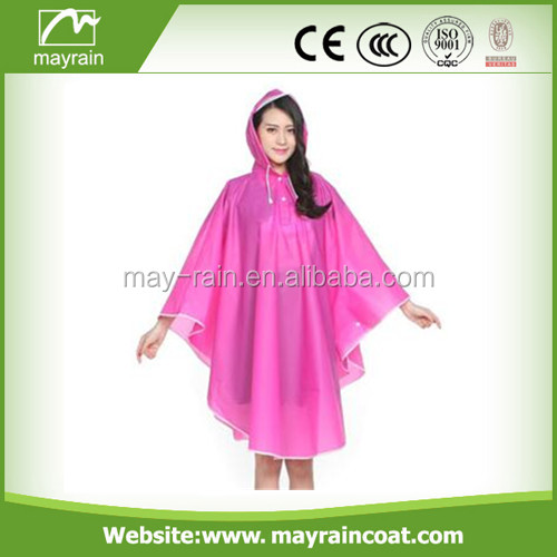 one size fits all adult eva durable simple rain coat poncho
