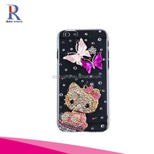 Bling Rhinestone Pearl Crystal Diamond Love Flowers Phone Case For iPhone 6