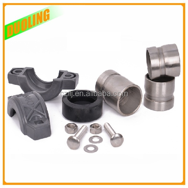 duoling ss304 rubber coupling joint ss316 pipe