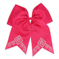 Cheer bow for cheerleader rhinestone iron on transfer factory