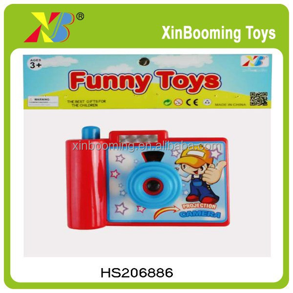 Plastic promotion click camera toy with Light