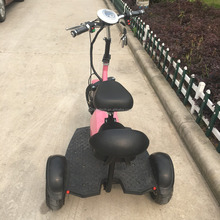 2018 New adult standing 3 wheel china foldable kick motorcycle electric scooter electric tricycle