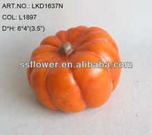 Artificial Fruits Fall Pumpkin 6*4 inch Artificial Poly foam Pumpkin