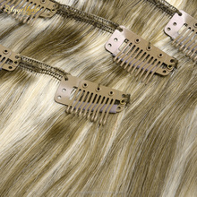 Human hair clip in extensions 100% human straight hair