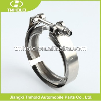 stainless steel v types band of turbo kit clamps for locking pipes