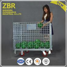 Stainless steel metal pallet welded wire mesh secure cage