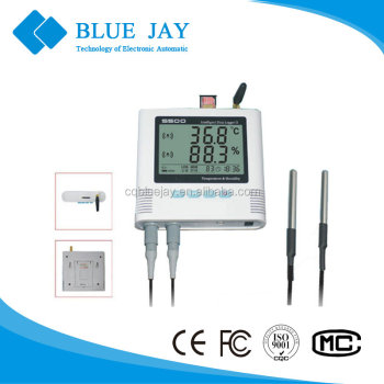 S500-DT-GPRS -40~85 C range LCD dual probe GPRS temperature data logger