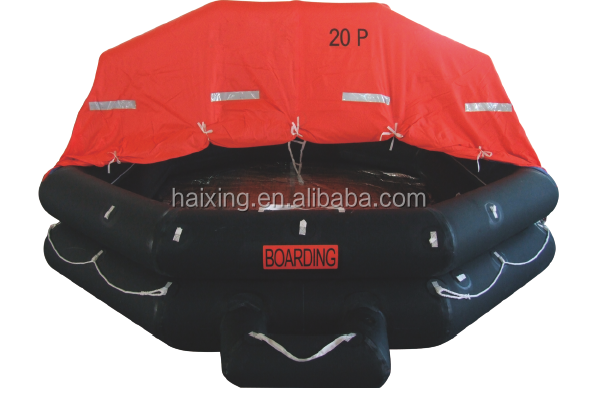 A type throwing inflatable life raft