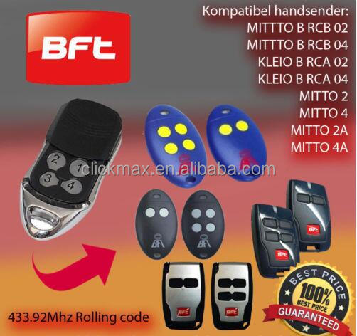 For BFT Mitto 2/Mitto 4 BFT B RCB02 / RCB04 Remote Control Telecomend Gate Door Opener Replacement