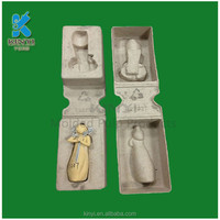 custom Environmental friendly biodegradable recycled paper pulp tray,bamboo package box for viol