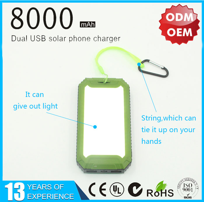 portable solar panel charger with flashlight
