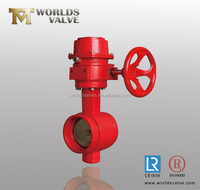 Ductile Iron Worm Gear Grooved Butterfly Valve Manufacturer