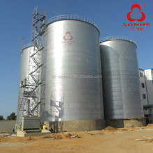 Un - Used Assembly type of hot ganlvanized steel grain storage silo for animal feed mill