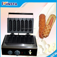 new machine 2016 free shipping 110V 220V 240V factory price commercial hot dog lolly waffle maker/ french hot dog machine