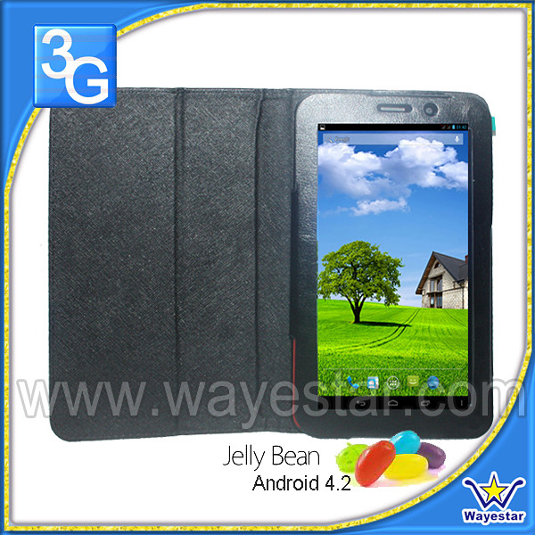 MTK8312 micromax touch tablet with sim card 3g with free leather case