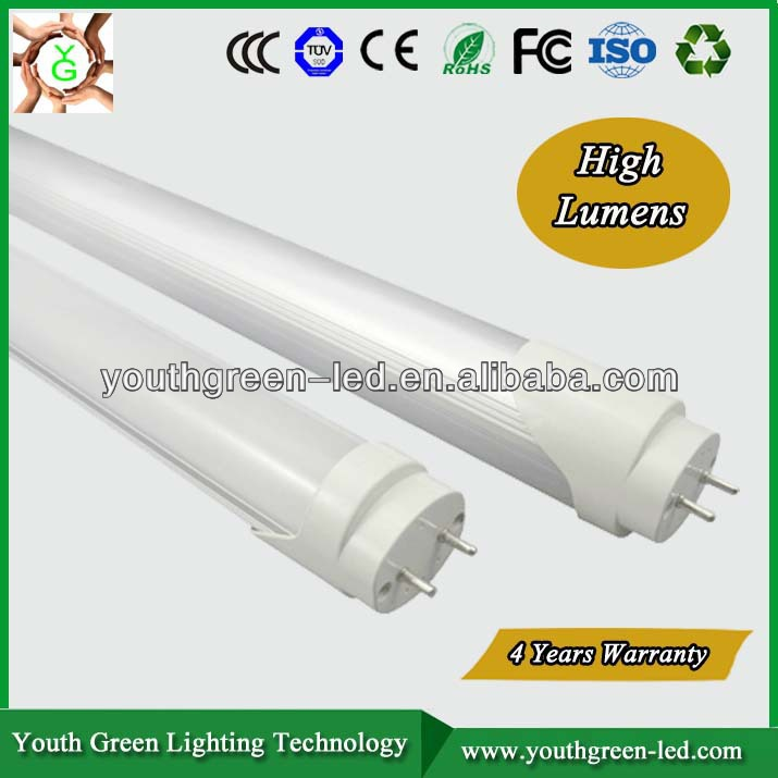 Energy Star 5Years Quality Guarantee clear cover G13 4ft led tube 1200mm 20w