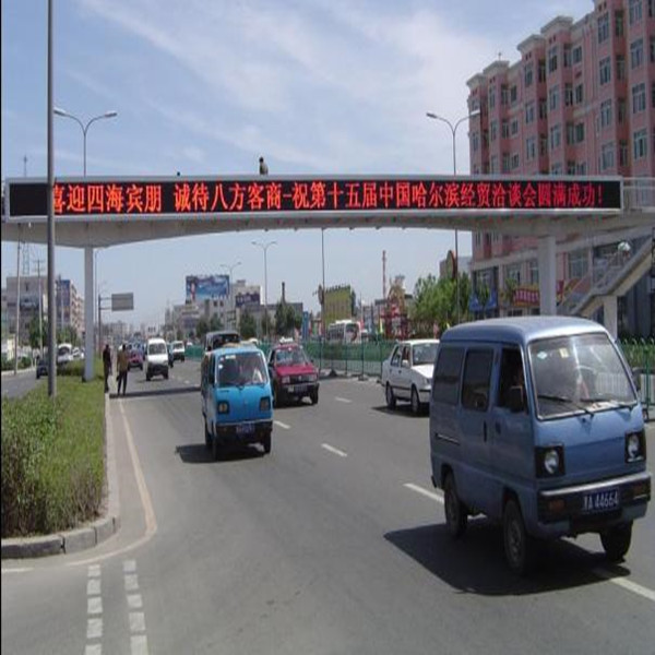 traffic signs outdoor p10 single red led programmable led display screen
