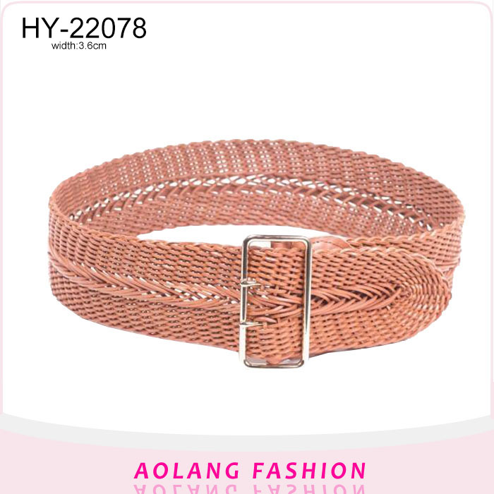 Pink girls wide dress decoration braided belts pu weaving loom belts